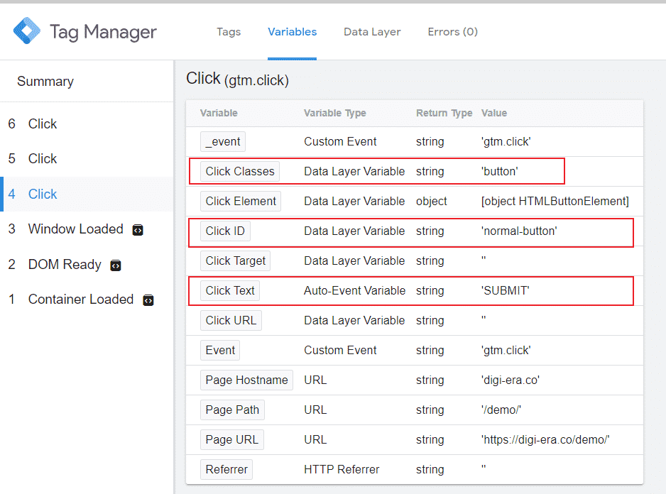 Image 2 - even tracking click variable explain