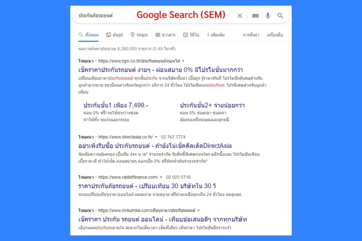 what is google ads - google search ads example