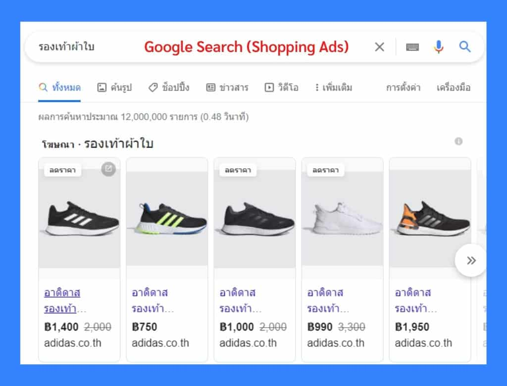 what is google ads - google shopping ads example